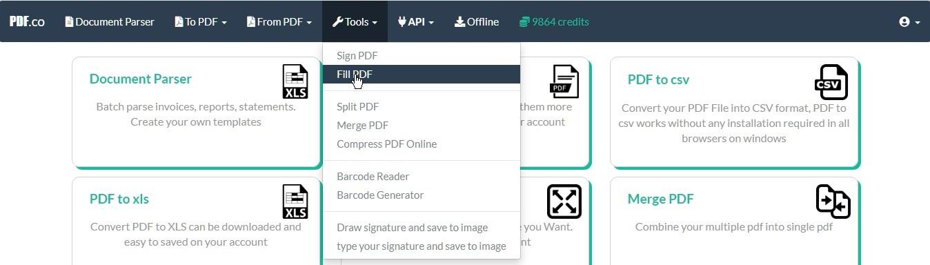 Fill PDF Online