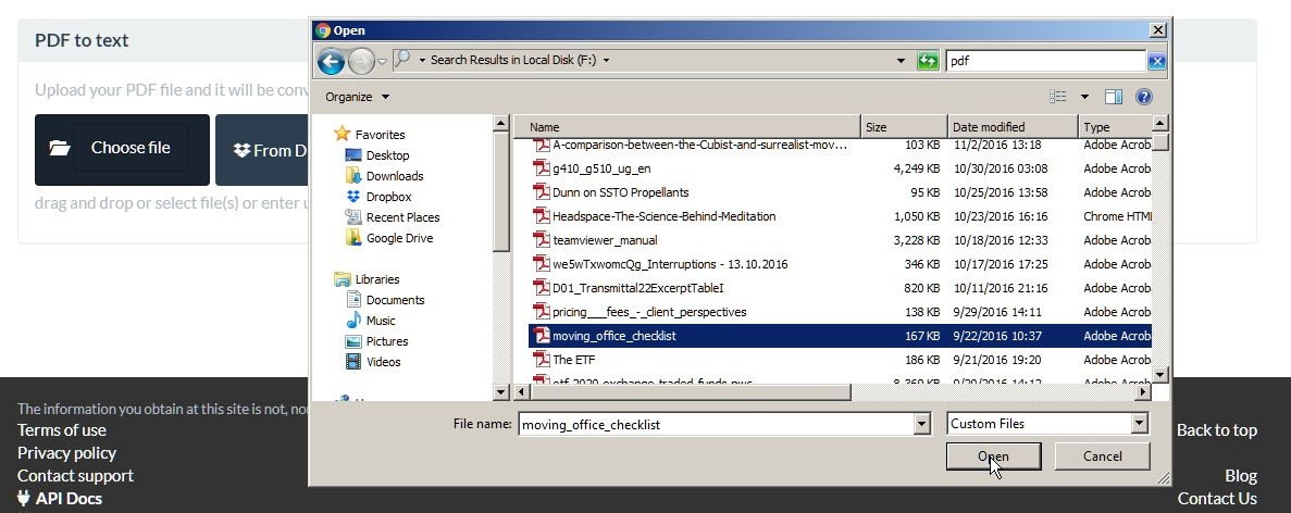Convert PDF to TXT Online