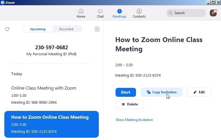 Teach Online Lesson with Zoom
