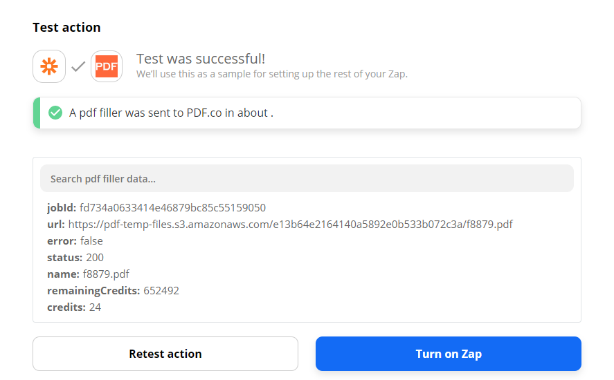 PDF.co Returned URL To View And Download File