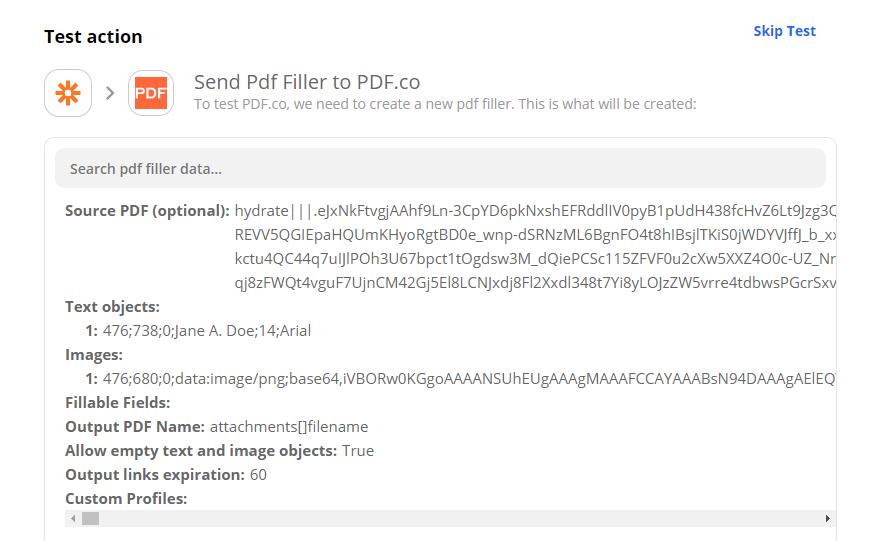Send PDF Filler To PDF.co To Test & Review