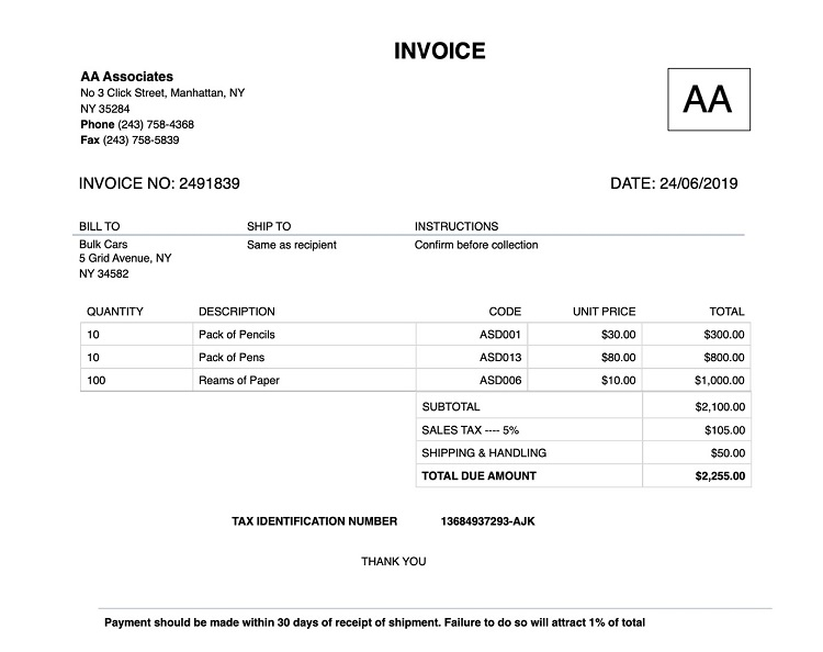 How to Create Invoice Without Discount