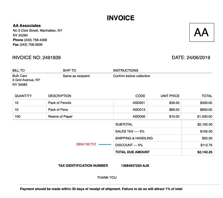 How to Create Invoice with Discounts