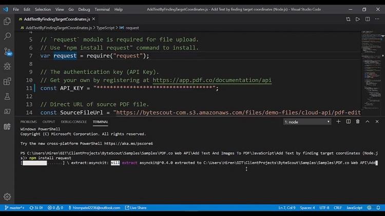Add Text to Existing PDF APi