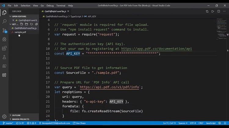 PDF Information API