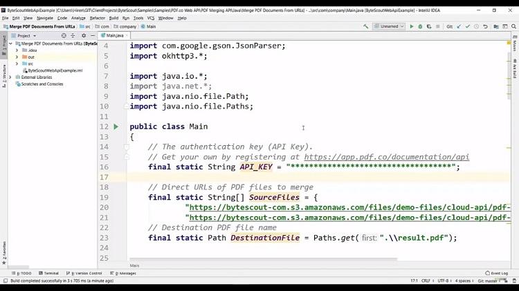 PDF Merging API