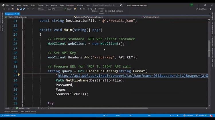 How to Convert PDF to JSON API