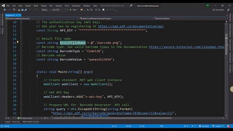 Generate BarCodes API