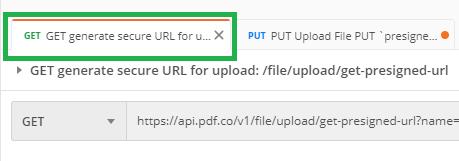 File Upload Get tab