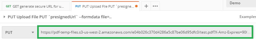 File Upload Put Address Bar