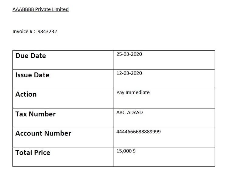 Invoice Extractor App