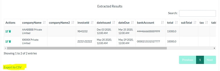 Extract Invoice Data
