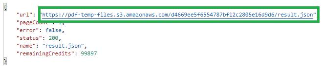 PDF To JSON Download Result