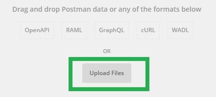Upload Postman Collection JSON