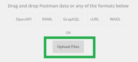 Upload Postman Collection JSON