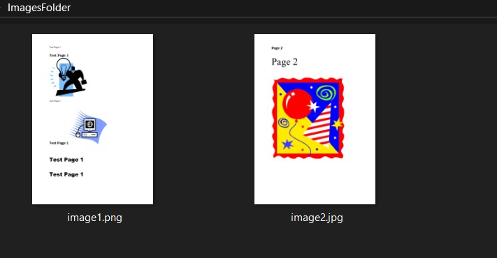 Images to be converted to pdf