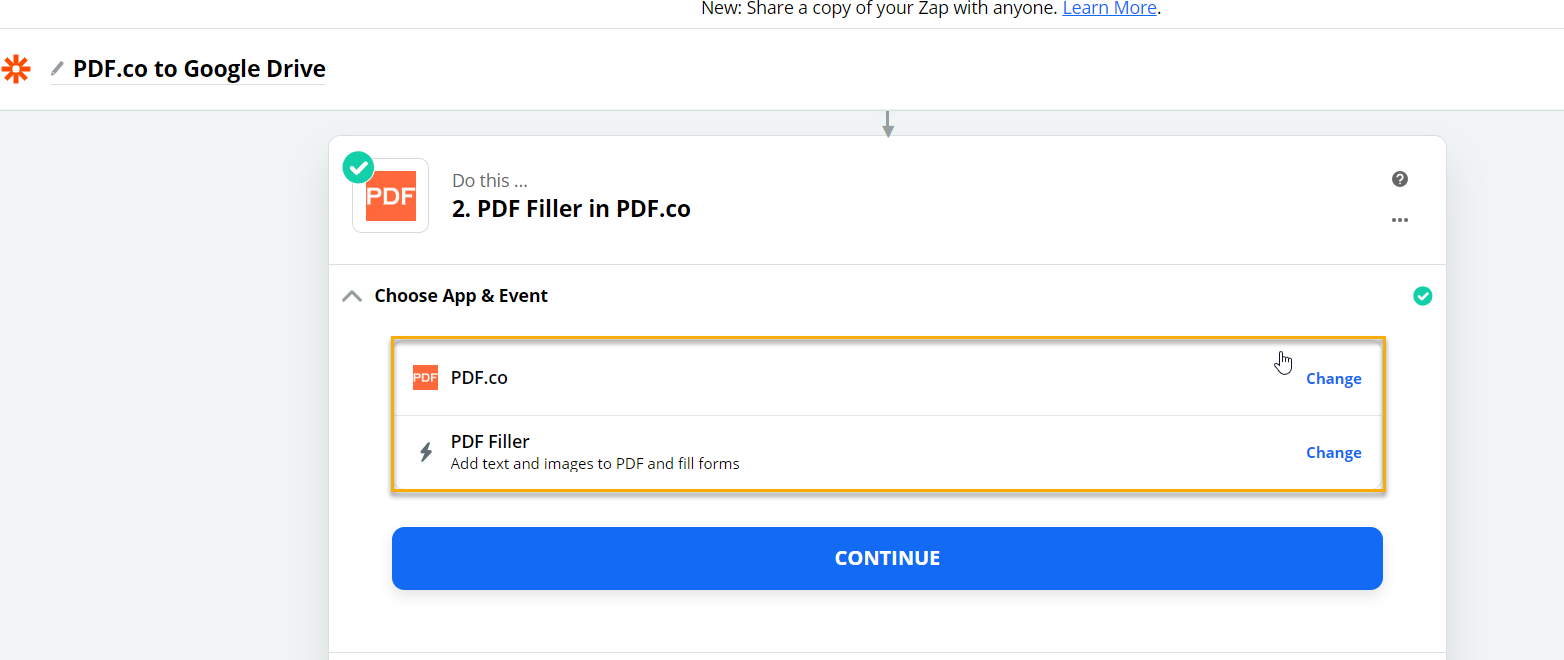 PDF Filler Choose App & Event