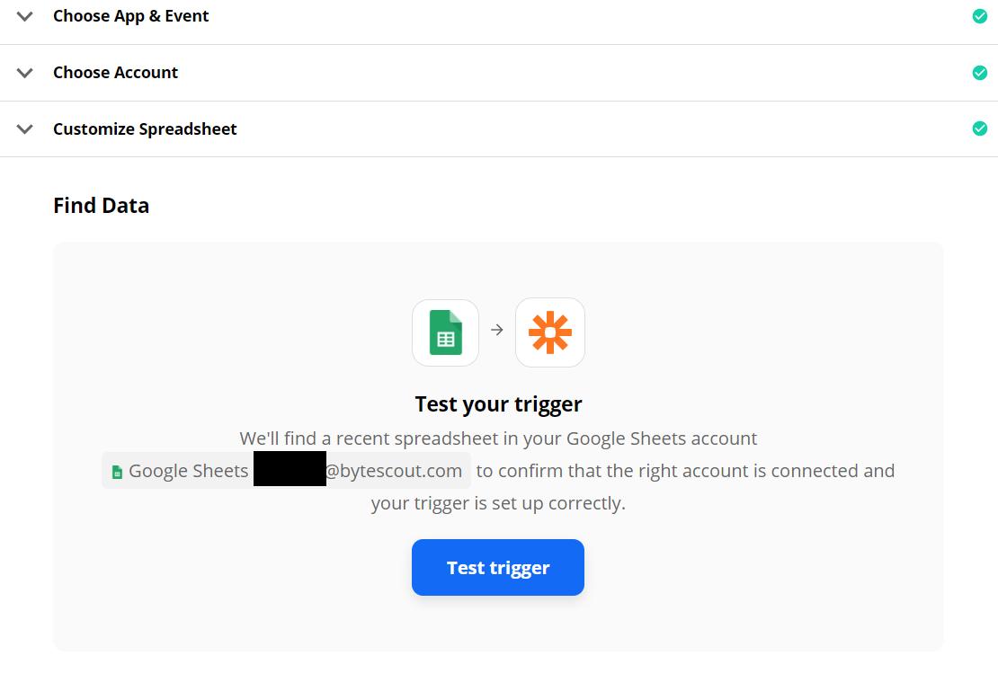 Test New Google Sheet Trigger