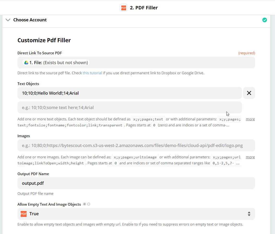 Customize PDF Filler