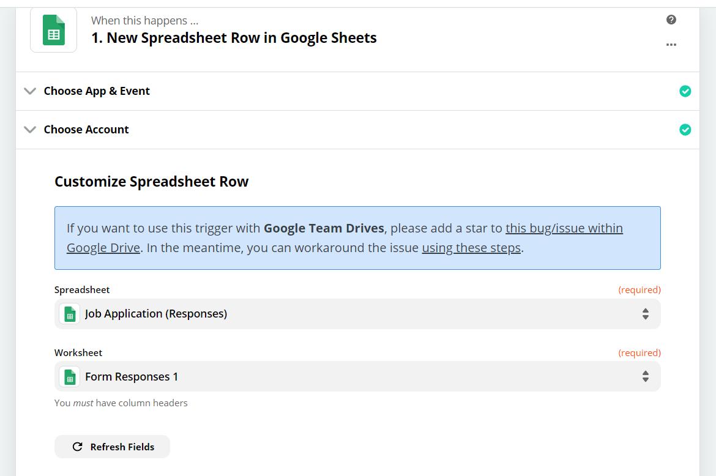 Customize Spreadsheet Row Input and Trigger