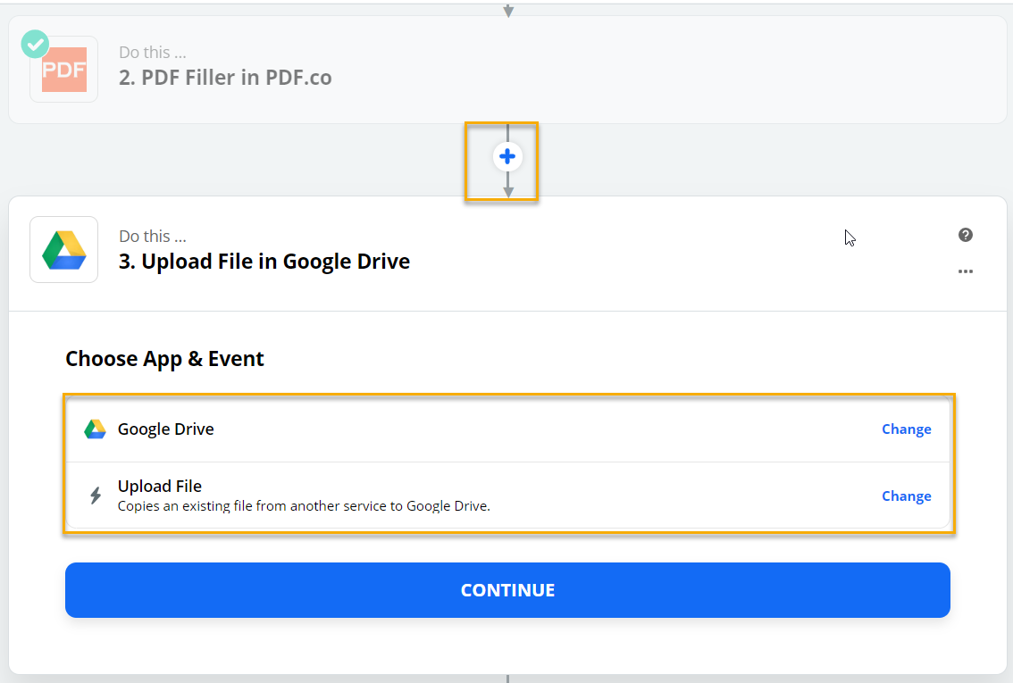 Google Drive Choose App and Event