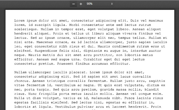Sample PDF With Vectorized Text
