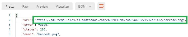 Barcode Generator Result URL