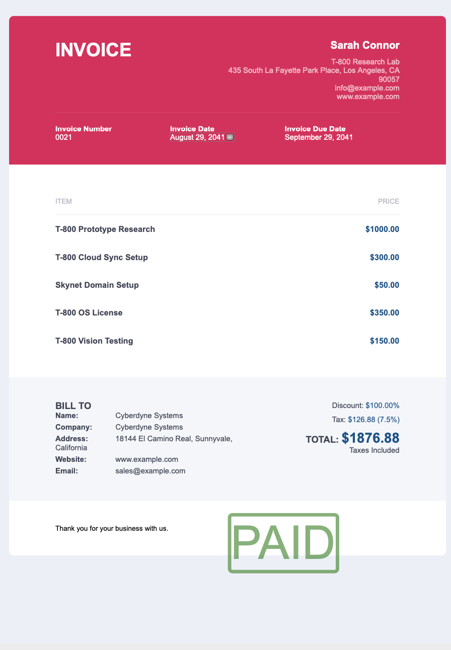 Out Of Invoice Template 3