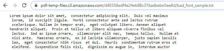 Bad Font Text Result
