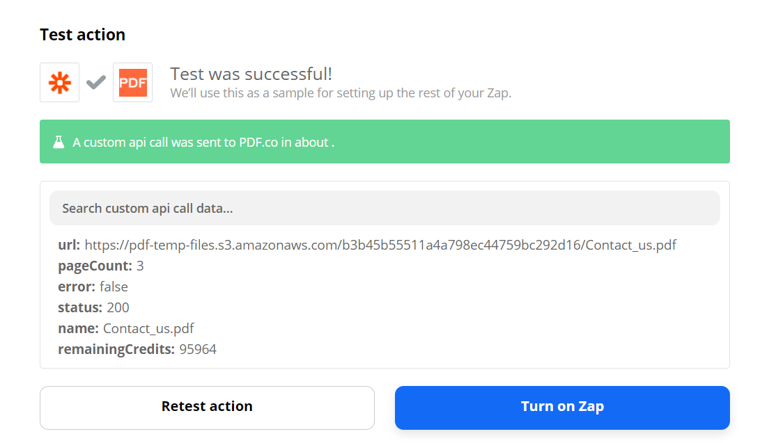 PDF.co Successfully Processed Request