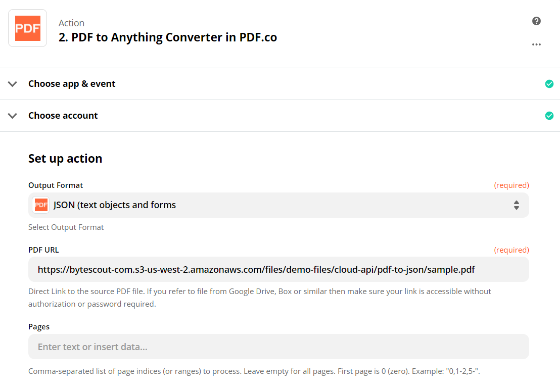 Configure Anything To PDF Converter With Source PDF URL
