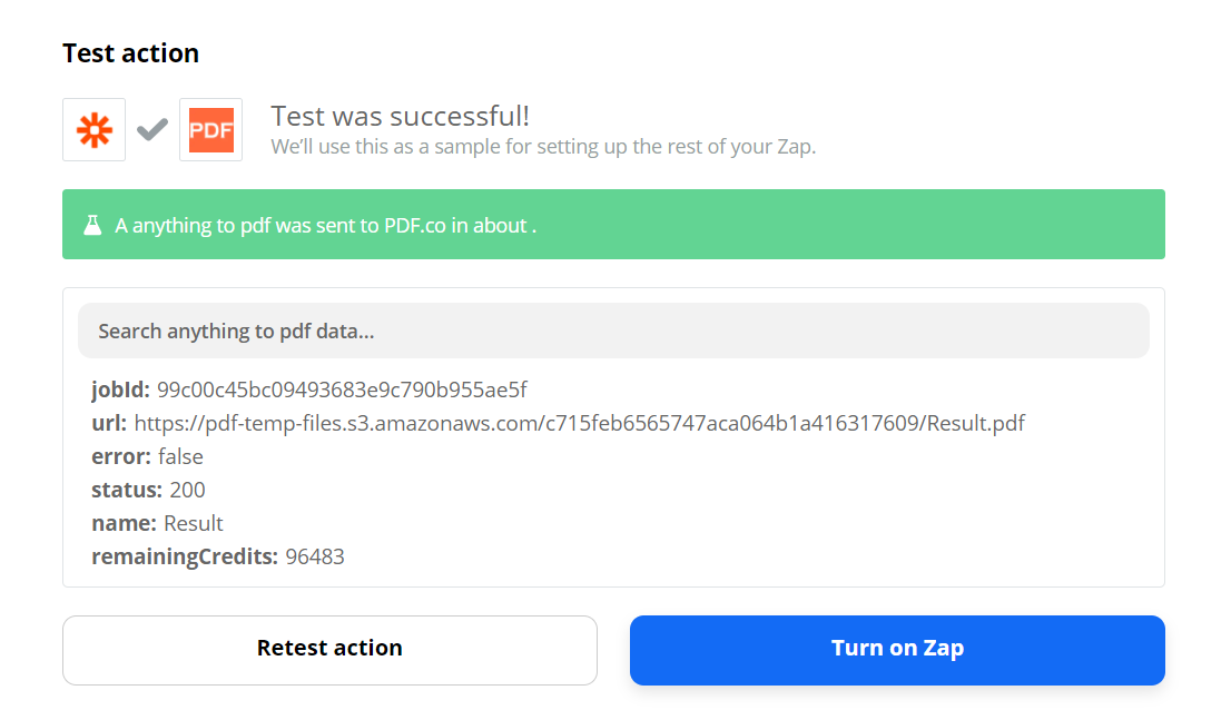 PDF.co Processed The Request Successfully