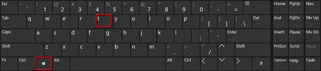 Shortcut Win Key + T