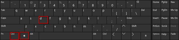 Shortcut Win Key + CTRL + D