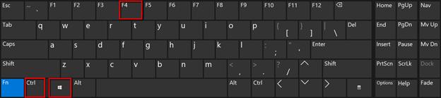 Shortcut Win Key + CTRL + F4
