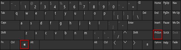ShortcutWin Key + PrtSC