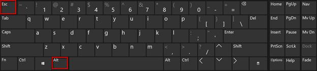Shortcut ALT + ESC