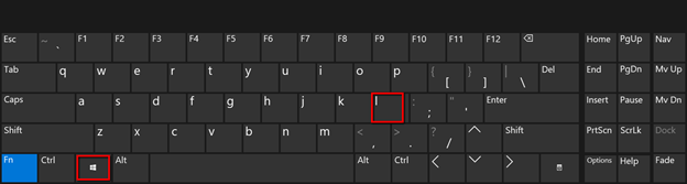 Shortcut Win Key + L