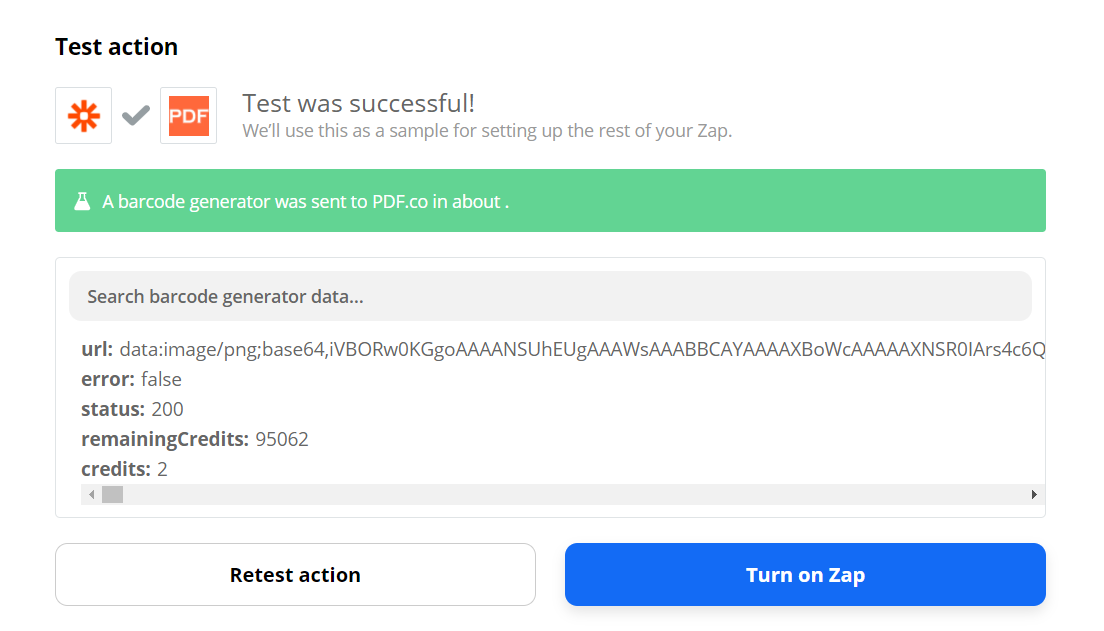 PDF.co Processed Request Successfully