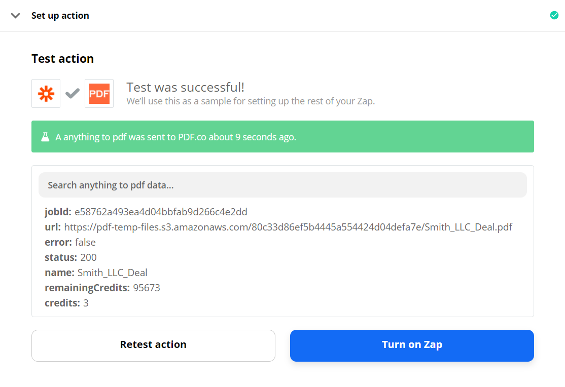 Successful PDF.co Test