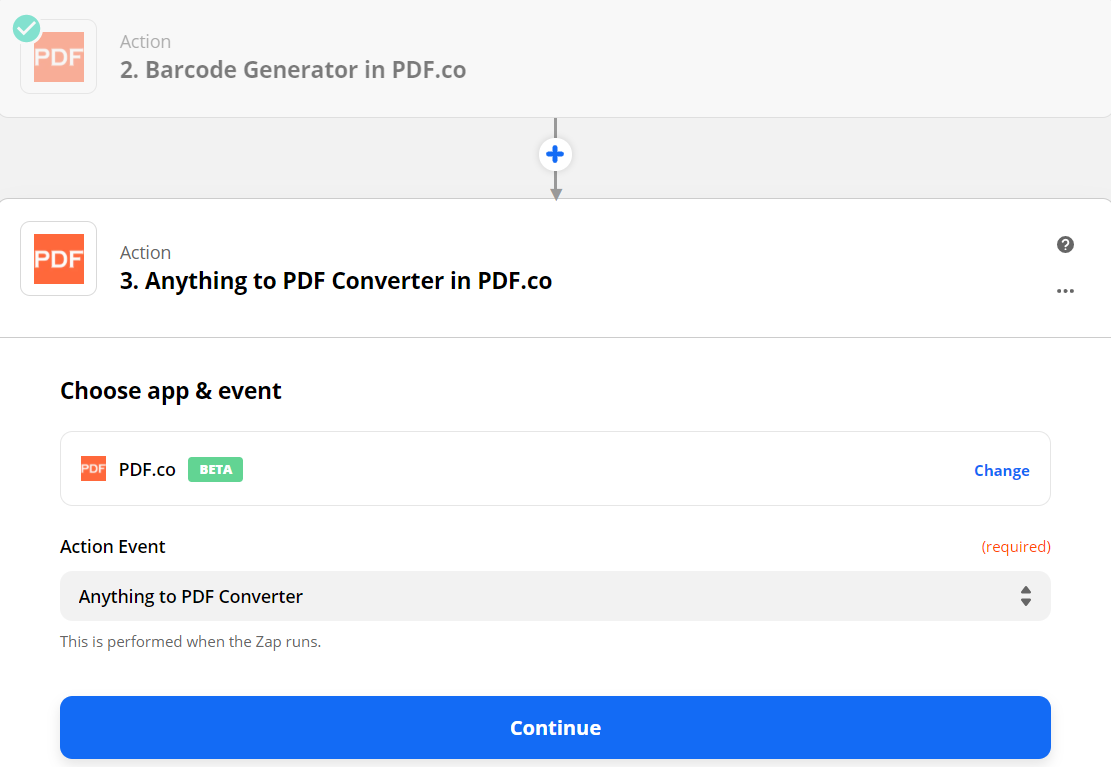 Anything To PDF Converter In PDF.co As The Action Event