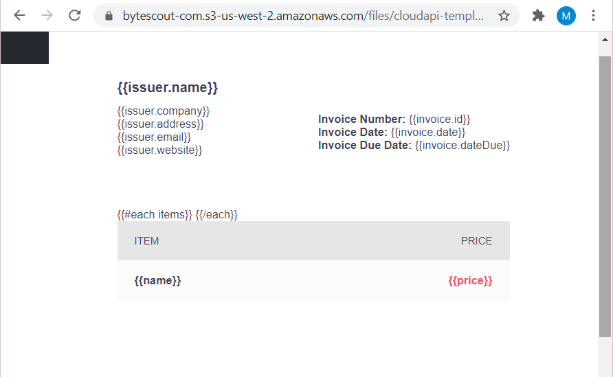 HTML Invoice Source File To Add Barcode