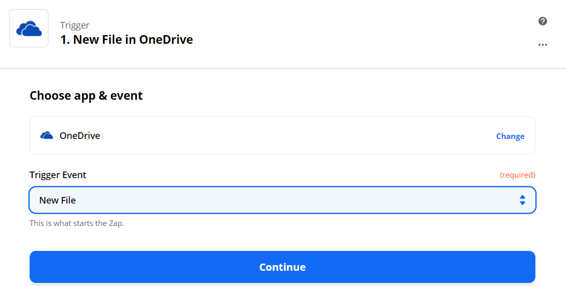 Set New File In OneDrive As The Trigger
