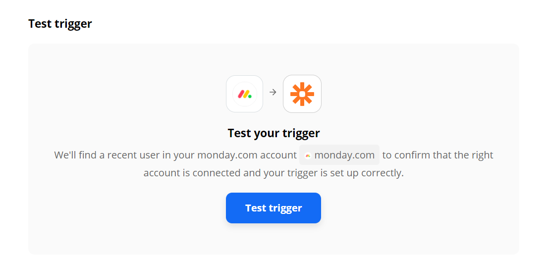 Test Monday.com Trigger To Confirm Correct Configuration