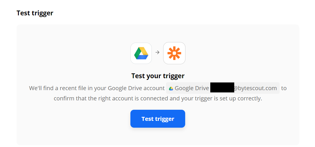 Test The Trigger To Make Sure That The Account Is Setup Correctly