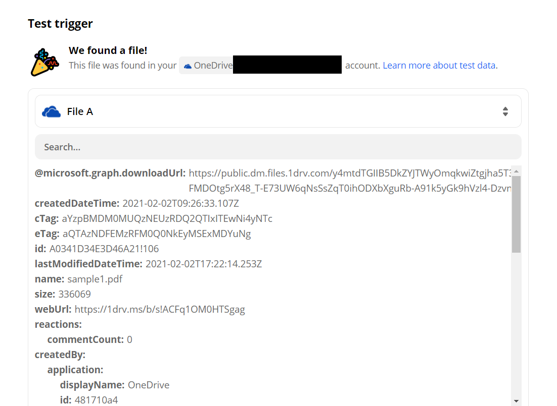 OneDrive Processed Request Successfully