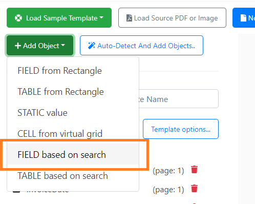 Add Object Field Based On Search