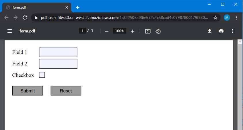 Fillable PDF Form Template Source File