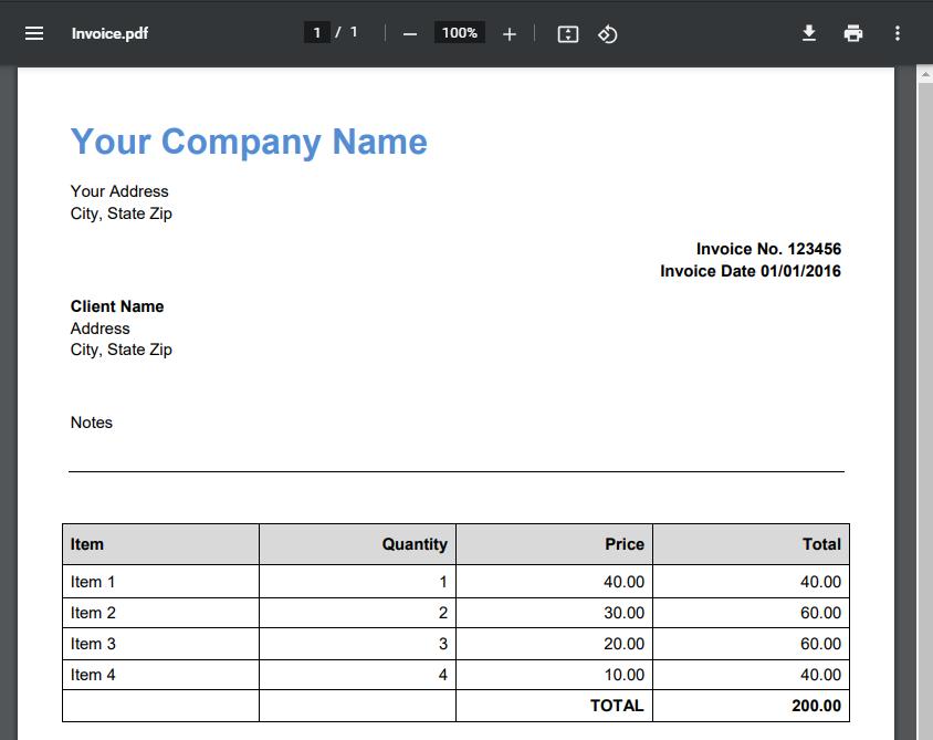 Zendesk Ticket PDF Invoice Attachment