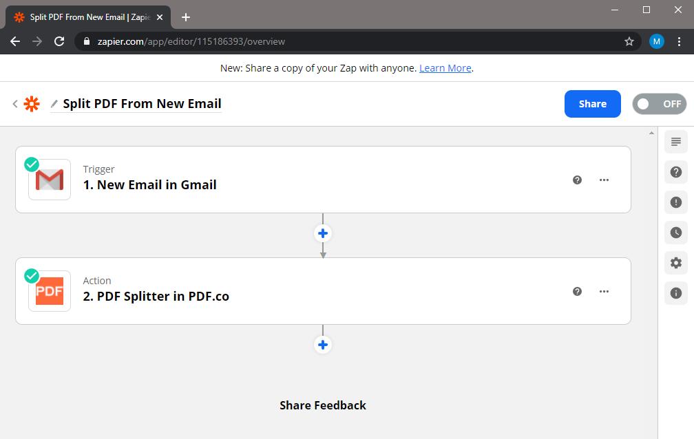 Zapier Workflow Editor